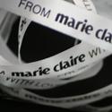 Bedrukt lint: 15 mm  Lint: Wit (00)  Druk: Zwart