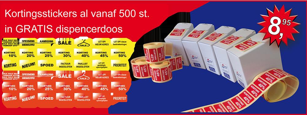 Kortingsstickers, Uitverkoop stickers, Tekststickers, Sale stickers, Waarschuwingsstickers op rol