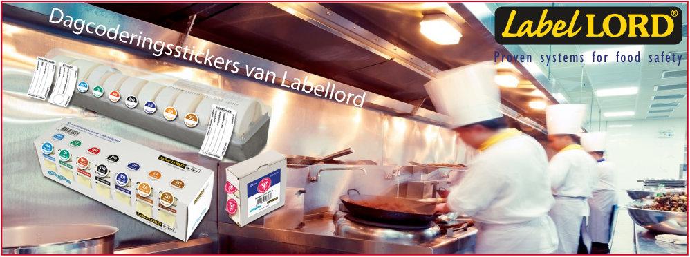 Dagcoderingsstickers voor de Horeca HACCP van Labellord