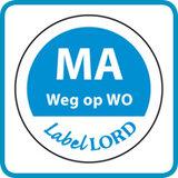Aqualabel Ma weg op WO