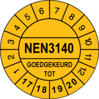 Keuringssticker Ø30mm