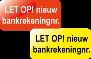 Let op! Nieuw bankrekeningnr.