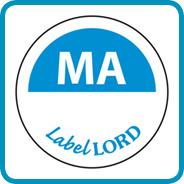 Labellord Aqualabel / MA zonder weg op/ Ø 19mm
