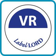 Labellord Aqualabel / VR zonder weg op/ Ø 19mm