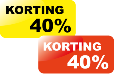Korting40%