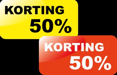 Korting50%