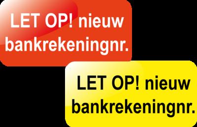 Nieuw bankrekeningnr.